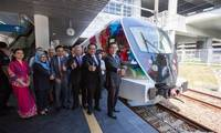 Chinese-made trains delivered to Malaysian airport rail link service