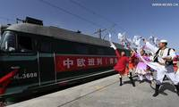 Cargo train links China's Qinghai with Russia