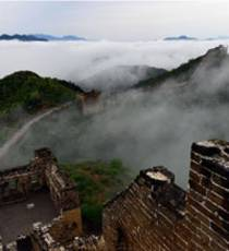 Cloud Scenery of Jinshanling Great Wall in N China